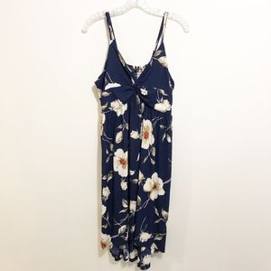 Suzanne Betro Hi-Low Navy Floral Dress